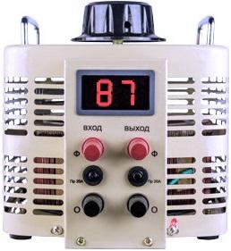 Автотрансформатор ЛАТР 1000 ВА с цифровым дисплеем