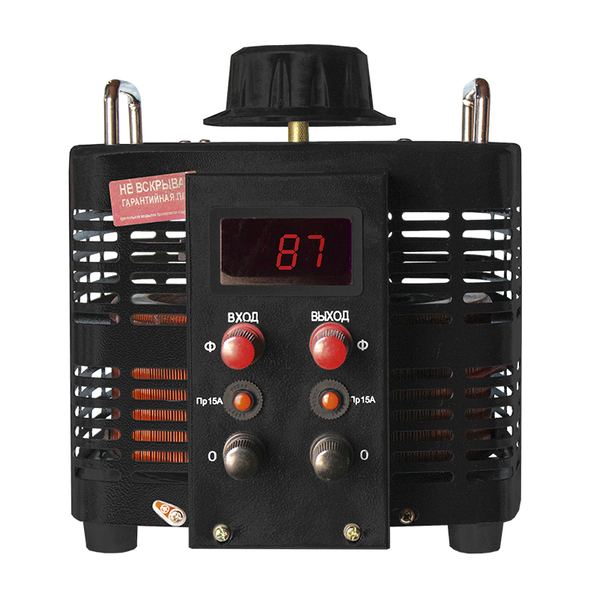 ЛАТР Энергия Black Series 1Ф 5кВА 15А 0-300V Е0102-0104