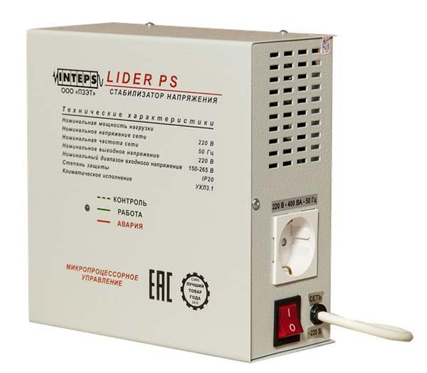 Стабилизатор напряжения LIDER PS600W