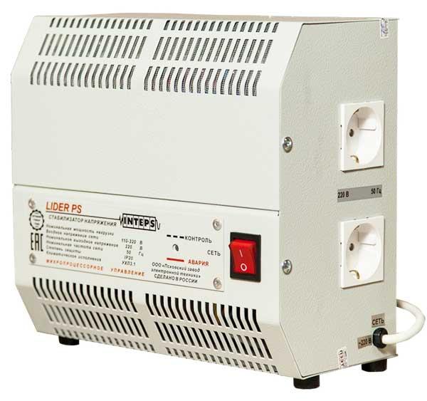 Стабилизатор напряжения LIDER PS2000W